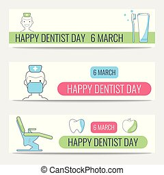 Happy Dentist Day banners