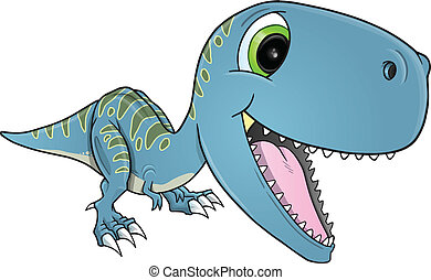 Happy Dinosaur T-Rex Vector