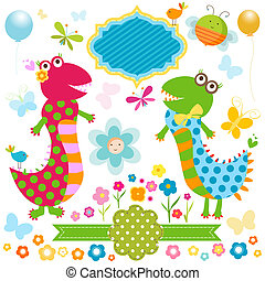 happy dinosaurs card