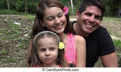 Happy Divorced Father And Daughters