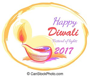Happy Diwali 2017 Festival of Lights Banner - Happy Diwali...