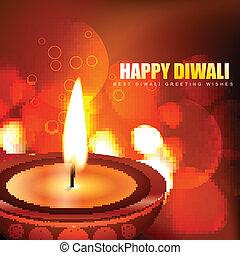 happy diwali background - beautiful happy diwali vector...