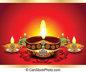 Happy Diwali Background vector illustration