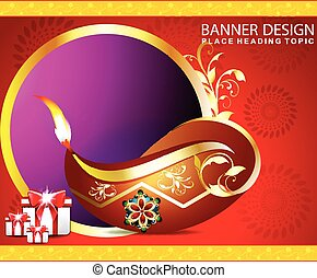 happy diwali background with gifts