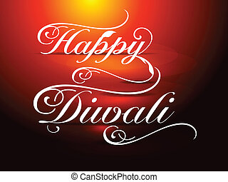 Happy Diwali card Vector illustrati