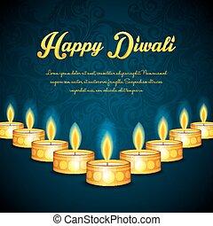 Happy Diwali - Vector illustration of Happy Diwali