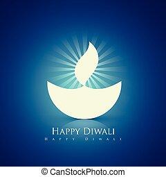 happy diwali design - beautiful happy diwali diya background
