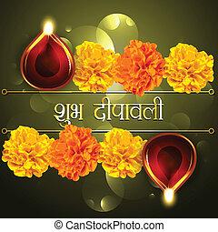 happy diwali diya design - vector festival shubh diwali...