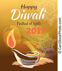 Happy Diwali Festival of Lights 2017 Banner - Happy Diwali...