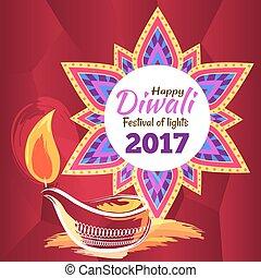 Happy Diwali Festival of Lights 2017 Poster - Happy Diwali...