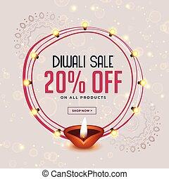happy diwali festival sale banner design