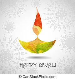 Happy Diwali Festival. Vector illustration. Eps 10.