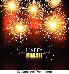happy diwali fireworks - beautiful happy diwali fireworks...