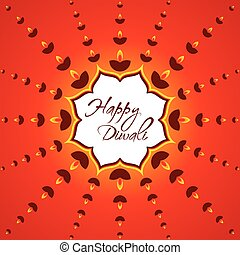 happy diwali greeting card design - creative happy diwali...