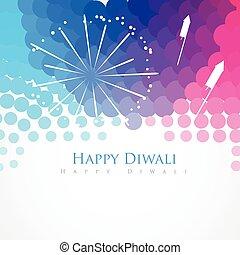 happy diwali greeting - colorful stylish happy diwali indian...