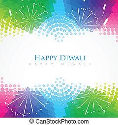 happy diwali greeting - beautiful colorful happy diwali...