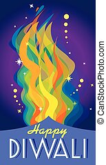 happy diwali - beautiful creative vector colorful happy...