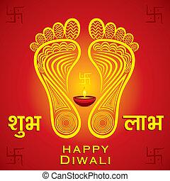 happy diwali or navratri festival greeting card background...