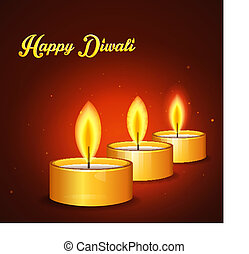 Happy Diwali - Vector illustration (eps 10) of Happy Diwali