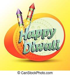 happy diwali - stylish vector happy diwali background