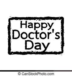 happy Doctor Day Illustration design