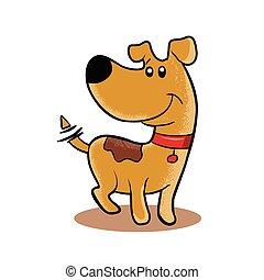 Happy Dog cartoon.
