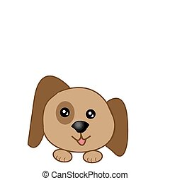 Happy Dog - Happy dog, isolated on white background, vector...