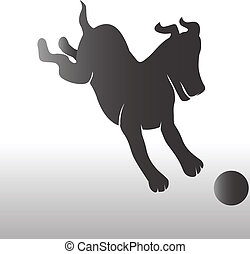 Happy Doggy with ball logo
