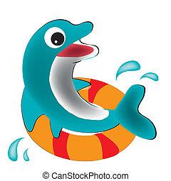 happy dolphin