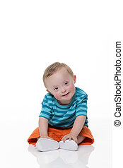 Happy Downsyndrome Baby - Portrait of a beautiful...