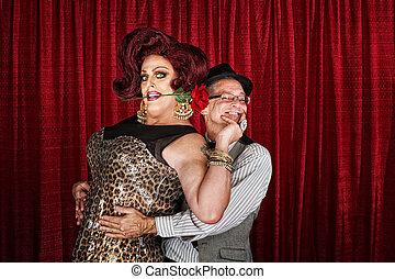 Happy Drag Queen with Partner