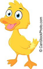 Happy duck cartoon