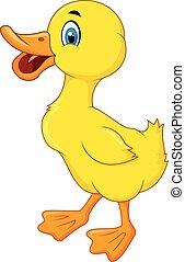 Happy Duck cartoon