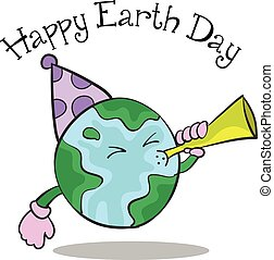 Happy Earth Day cartoon design