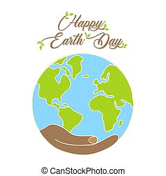 Happy Earth Day concept for nature care