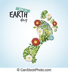 Happy Earth Day cutout card for environment care