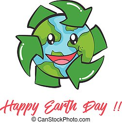 Happy Earth Day design collection