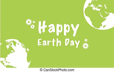 Happy Earth Day design with green background