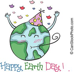 Happy Earth Day doodle style