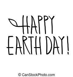 happy earth day hand lettering