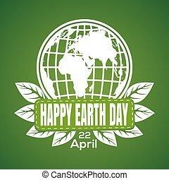 Happy Earth Day logo design