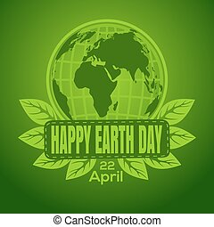 Happy earth day 22 april abstract logo design world map clip happy earth day logo design gumiabroncs Images