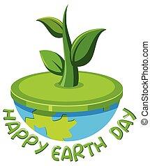 Happy earth day logo