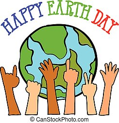 Happy Earth Day style design