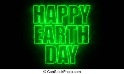 Happy earth day text, 3d rendering backdrop, computer...