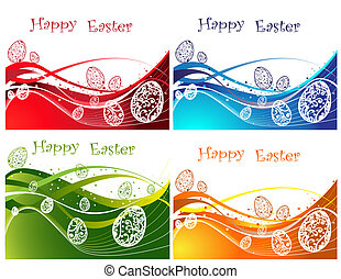 Happy Easter background collection
