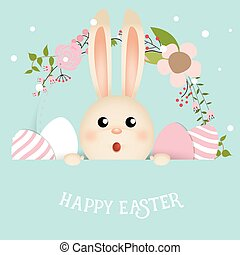 Happy easter background design. Happy easter cards with...
