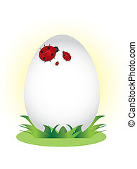 Happy easter background Family of l