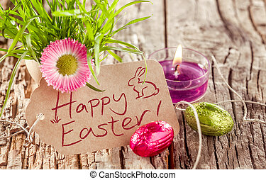 Happy Easter background still life
