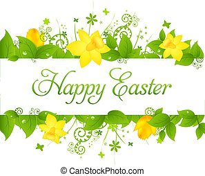 Happy Easter Background, Vector Illustration